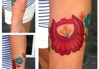 Invictus-Tattoo-Berlin-Budapest-tattoo-artist-taetowiererin-Zsofia-Sophie-Buza-flower-blume-farbe