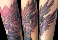 Invictus-Tattoo-Budapest-Berlin-Bori-Falvay-tetovalo-tattooist-artist-newschool-sanduhr- sandclock