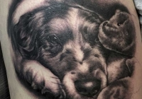 invictus-tattoo-berlin-budapest-laci-kovacs-realistic-scharzweiss-blackandgrey-portait-dog-hund