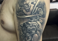 invictus-tattoo-berlin-budapest-laci-kovacs-realistic-scharzweiss-blackandgrey-portait-lion-animal-hero-army