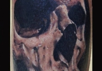 Invictus-Tattoo-Budapest-Berlin-Teglas-Attila-tetovalo-realistic-skull-schwarz-totenkopf-black-koponya